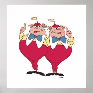 Tweedle Dum and Dee Disney Poster