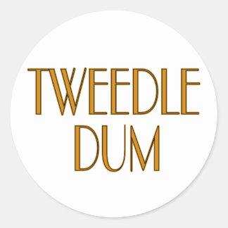 Tweedle Dum Pegatina Redonda