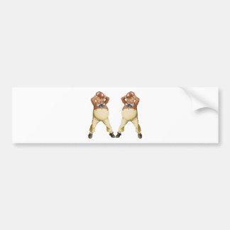 Tweedledee and Tweedledum Lose It In Wonderland Bumper Sticker