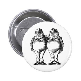 Tweedledum & Tweedledee Button