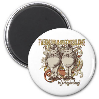 Tweedledum & Tweedledee Carnivale Style Gold Ver. Refrigerator Magnet