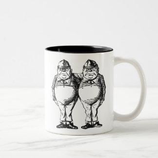 Tweedledum & Tweedledee Two-Tone Coffee Mug