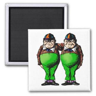 Tweedles Dum & Dee 2 Inch Square Magnet