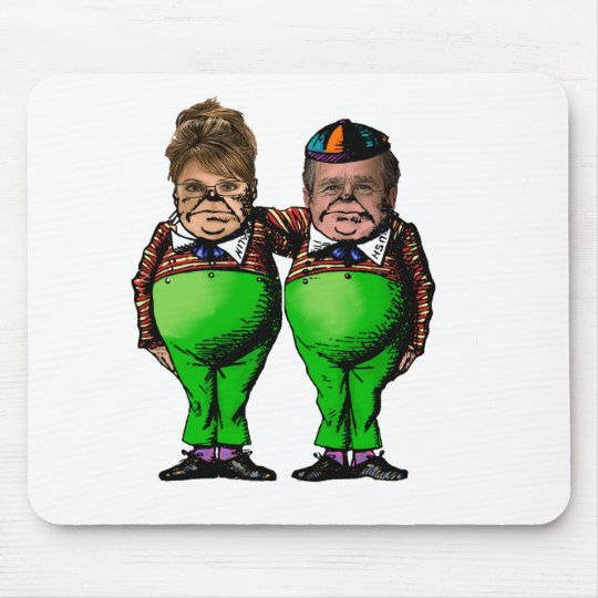 Tweedles Palin & Bush Mouse Pad