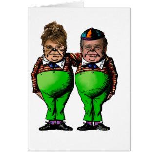Tweedles Palin y Bush Tarjeta