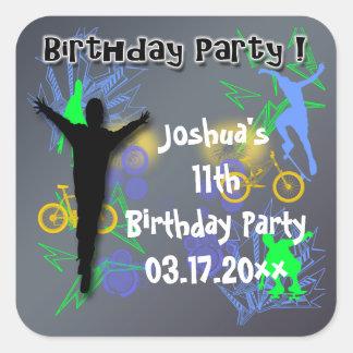 Tween Boy's Birthday Favor stickers