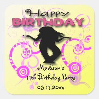 Tween Girl's Birthday Party Favor stickers