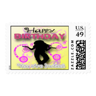 Tween Girl's Birthday Party Invitation Postage
