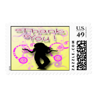 Tween Girl's Birthday Party Thank You Postage