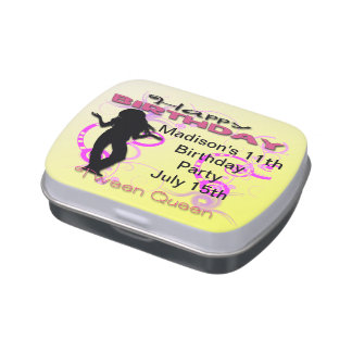 Tween Girl's Birthday Rectangle-Shaped Candy Tin