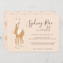 Tween Horseback Riding Party Invitation