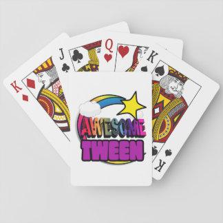 Tween impresionante del arco iris de la estrella cartas de póquer