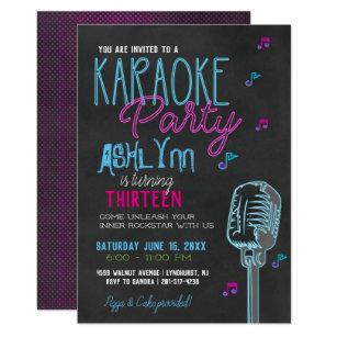 Tween Teen Karaoke Birthday Party Invitation
