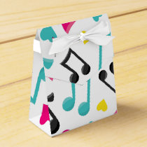 Tween Teen musical note pattern party favor box