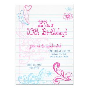 Tween birthday invitations zazzle tween teenager birthday party invitations filmwisefo