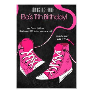 Tween Teenager Cool Sneaker Birthday Invitations