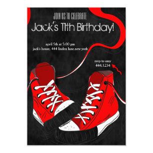Tween birthday invitations zazzle tween teenager cool sneaker birthday invitations filmwisefo