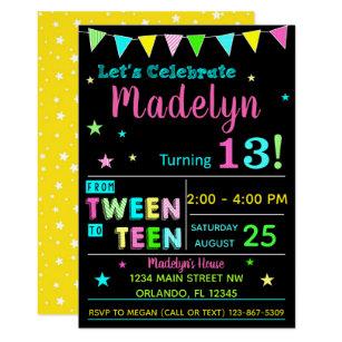 Text Birthday Invitations