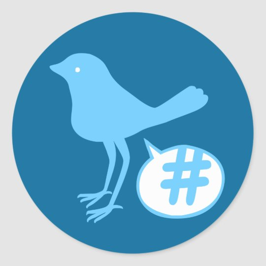 Tweet a Hash Sticker