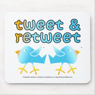 Tweet And Retweet Mouse Pad