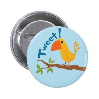 Tweet Bird Button Pinback Buttons