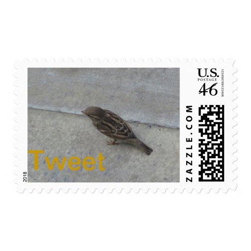 Tweet Bird Postage Stamps