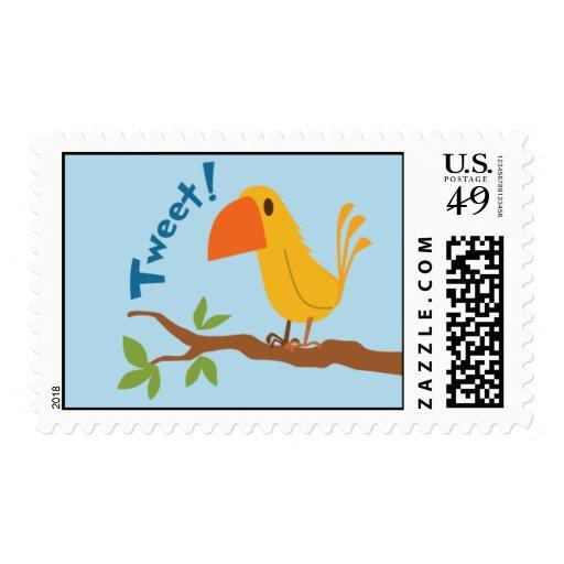 Tweet Bird Stamp