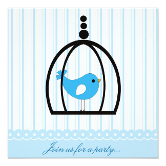 Tweet Bluebird Party Invitation