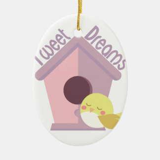 Tweet Dreams Ceramic Ornament