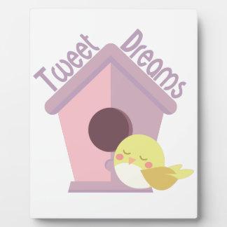 Tweet Dreams Plaque