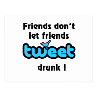 Tweet drunk postcard