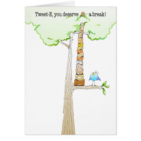 Tweet E. Doodle note card