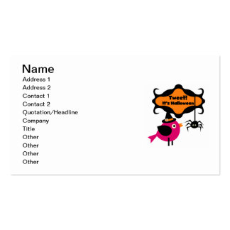 Tweet Halloween T-shirts and Gifts Double-Sided Standard Business Cards (Pack Of 100)