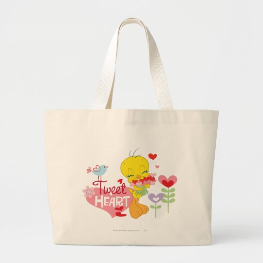 Tweet Heart Large Tote Bag
