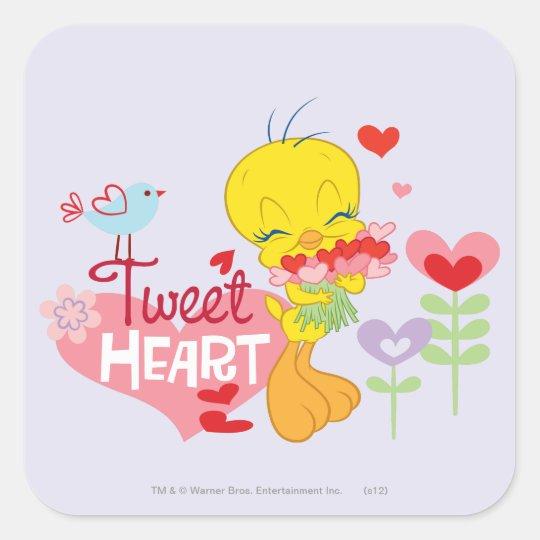Tweet Heart Square Sticker