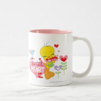 Tweet Heart Two-Tone Coffee Mug