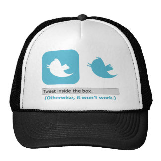 Tweet Inside the Box Trucker Hat