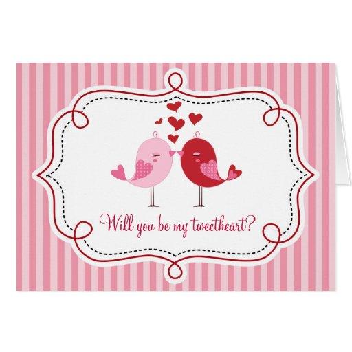 Tweet Love Bird Card