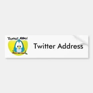 Tweet Me Bumper Sticker Car Bumper Sticker