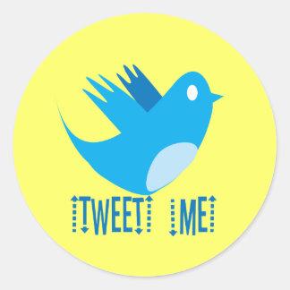 Tweet ME Classic Round Sticker