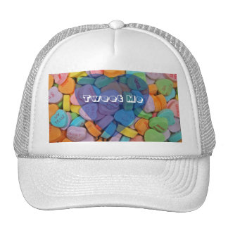 Tweet Me-Customizable Candy Hearts with New Saying Trucker Hat