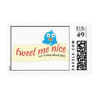 Tweet Me Nice Postage