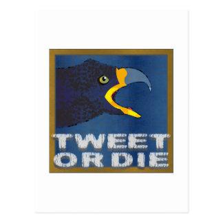 Tweet Me or Die Postcard