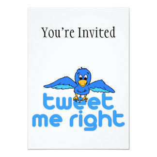 Tweet Me Right Card