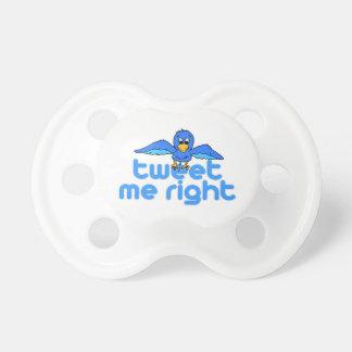 Tweet Me Right Baby Pacifier