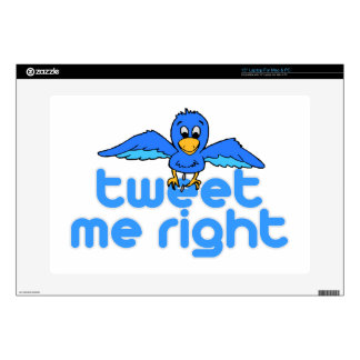 Tweet Me Right Skins For Laptops
