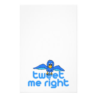 Tweet Me Right Stationery