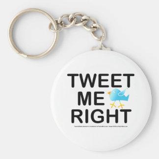 Tweet Me Right WHT2228 Basic Round Button Keychain