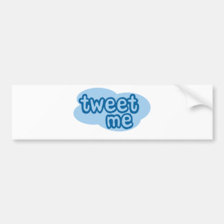 tweet me (twitter) bumper sticker