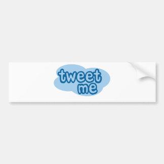 tweet me (twitter) car bumper sticker